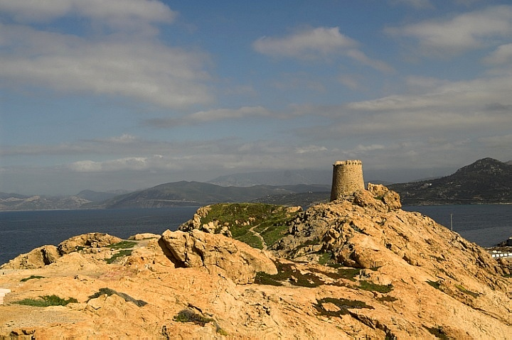 Genoese tower in Ile Rousse
