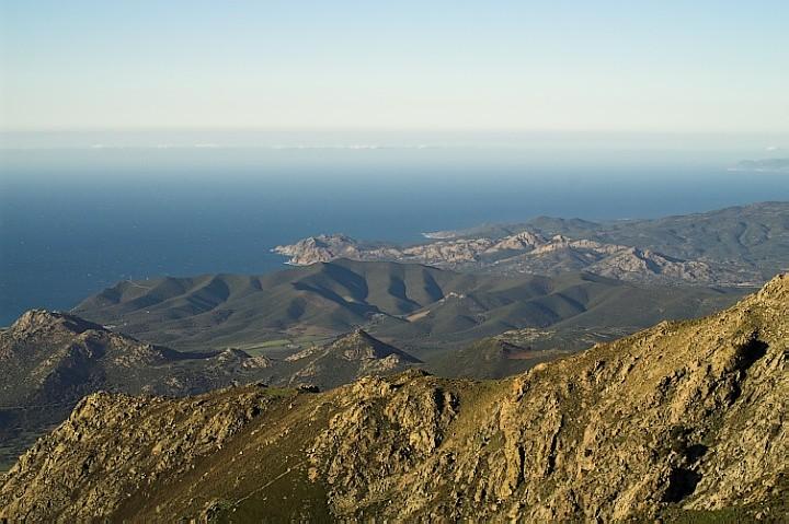 Green hills of Corsica