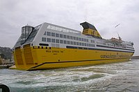 Ferry boat of Corsica Ferries